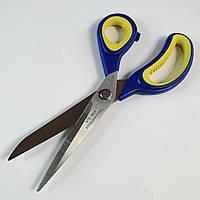 """Ножиці """"Taksun"""" кравецькі 24см (№9). Чорний з синім"""