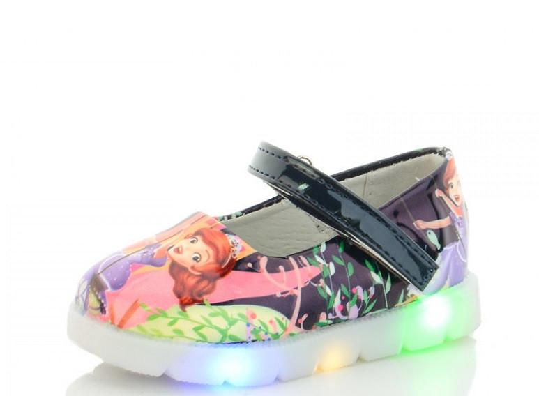 Туфли детские синие,туфли на девочку Nexter-857-5