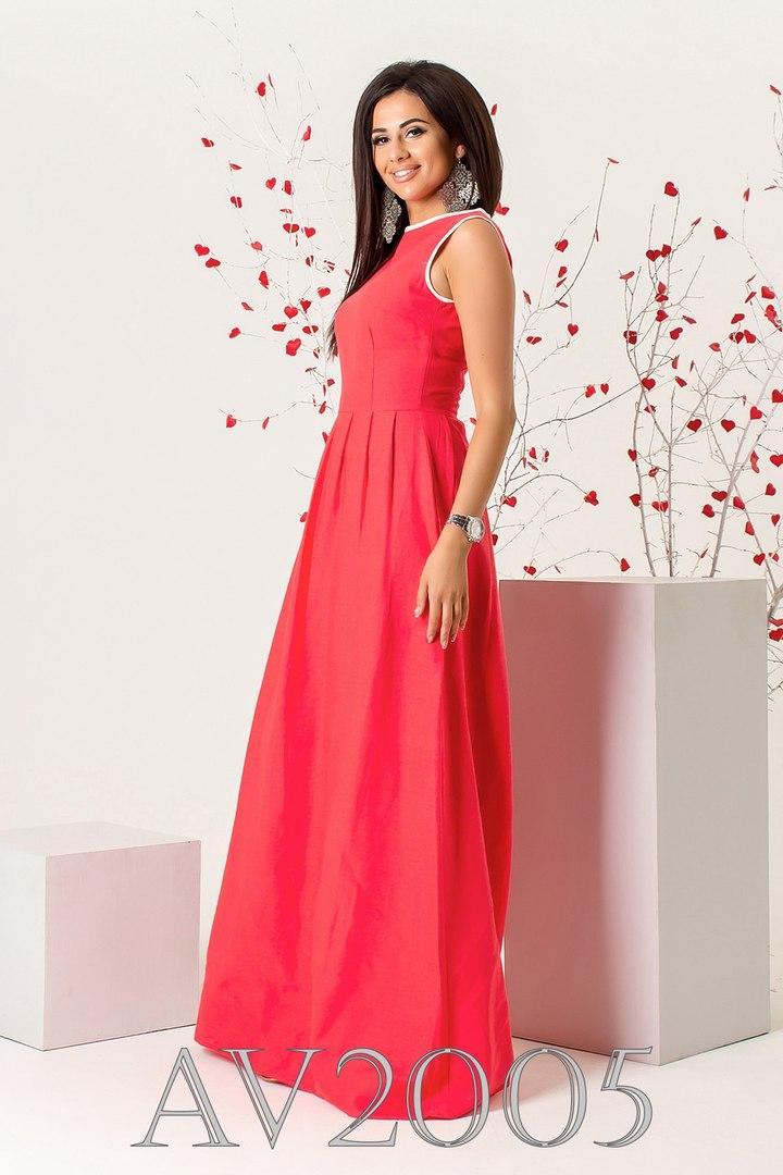 Платье льняное макси
