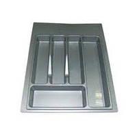 Лоток для столовых приборов шир. 300 мм/ серый, пластиковый
