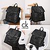 Городской рюкзак в стиле Calvin Klein + Клатч в ПОДАРОК! Черный унисекс рюкзак. Рюкзак для ноутбука. - Фото