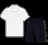 Летний костюм Lacoste Knit Side Stripe Shorts (лакоста), фото 2