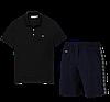Летний костюм Lacoste Knit Side Stripe Shorts (лакоста), фото 3