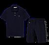 Летний костюм Lacoste Knit Side Stripe Shorts (лакоста), фото 4