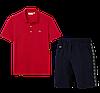 Летний костюм Lacoste Knit Side Stripe Shorts (лакоста), фото 5
