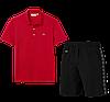 Летний костюм Lacoste Knit Side Stripe Shorts (лакоста), фото 6