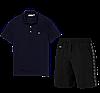 Летний костюм Lacoste Knit Side Stripe Shorts (лакоста), фото 7