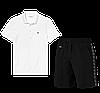 Летний костюм Lacoste Knit Side Stripe Shorts (лакоста), фото 9