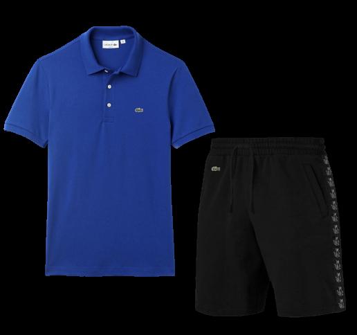 Летний костюм Lacoste Knit Side Stripe Shorts (лакоста)