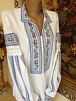 Жіноча вишиванка домоткане полотно з комірцем