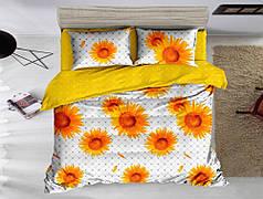 Постільна білизна Соняшники сатин ТМ Комфорт-Текстиль (Євро максі)