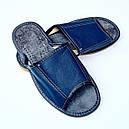 Домашние кожаные мужские тапочки 46, фото 2