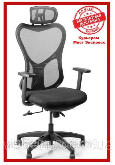 Кресло для врача Barsky Fly-05 Butterfly Black PL, сеточное кресло, черный