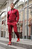 Чоловічий спортивний костюм 21451 бордовий, фото 5