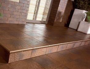 Плинтус керамический Paradyz Semir Brown Cokol Dwuelementowy Schodowy Prawy 8.1x30, фото 2