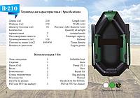 Надувная лодка Aqua Star Elfin-Boat B-210 (зеленая)