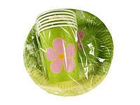 """Набор одноразовой бумажной посуды №3/19 """"Зеленая"""" (1 пач)заходи на сайт Уманьпак"""
