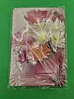 Тарелки праздничные бумажные 15* 22см №10 Букет10шт (1 пач)
