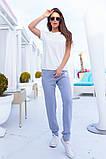 Женский летний спортивный костюм футболка и штаны размер: 42, 44, 46, 48, 50, 52, 54, фото 2