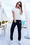 Женский летний спортивный костюм футболка и штаны размер: 42, 44, 46, 48, 50, 52, 54, фото 5