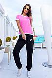 Женский летний спортивный костюм футболка и штаны размер: 42, 44, 46, 48, 50, 52, 54, фото 3