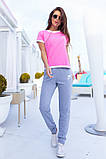 Женский летний спортивный костюм футболка и штаны размер: 42, 44, 46, 48, 50, 52, 54, фото 6