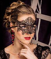 Женская карнавальная маска на глаза  чёрный ( 190 002 )