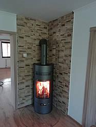 Отопительная печь на дровах ( каминофен ) Andorra - серая