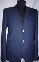 Пиджак шерстяной синий мужской опт