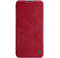 Кожаный чехол-книжка Nillkin Qin Series для Huawei P40 Lite / Nova 7i / Nova 6 SE Red
