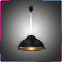 Светильник подвесной в стиле лофт Купол на 1 лампу черный+бронза