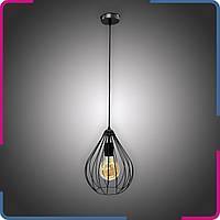 Светильник подвесной в стиле лофт Капля на 1 лампу черный