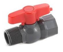 Кран шаровый Poland 40 мм с внутренней и наружной резьбой 1,1/4 дюйма (PFV-0140P)