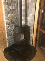 Zaragoza ( черная ) отопительная печь камин на дровах , каминофен, буржуйка