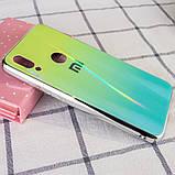 TPU+Glass чехол Gradient Aurora с лого для Xiaomi Redmi 7, фото 2