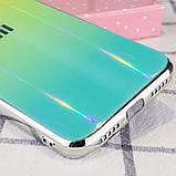 TPU+Glass чехол Gradient Aurora с лого для Xiaomi Redmi 7, фото 3