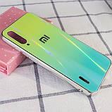 TPU+Glass чехол Gradient Aurora с лого для Xiaomi Mi CC9 / Mi 9 Lite, фото 2