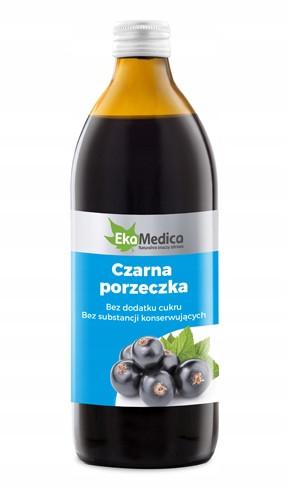 Сок черной смородины 100% без сахара и консервантов 500 мл, EkaMedica