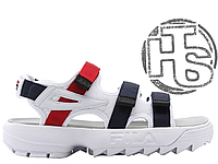 Мужские сандалии Fila Disruptor 2 Sandal White Red Blue FS1HTZ3082X