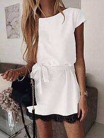 Платье летнее элегантное белого цвета «Шерри»