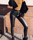 Штани жіночі з еко шкіри, фото 7