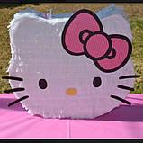 Піньята кішка кішечка паперова для свята піната Кіт котик Кітті піньята, фото 10