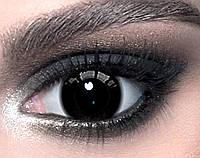 """Черные линзы 14.5 мм. ELITE Lens """"Black"""" (N0061)"""