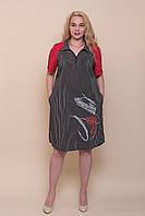 Батальне смугасте плаття - сорочка чорного кольору. Оптом і в роздріб. Розмір 52, 54, 56, 58