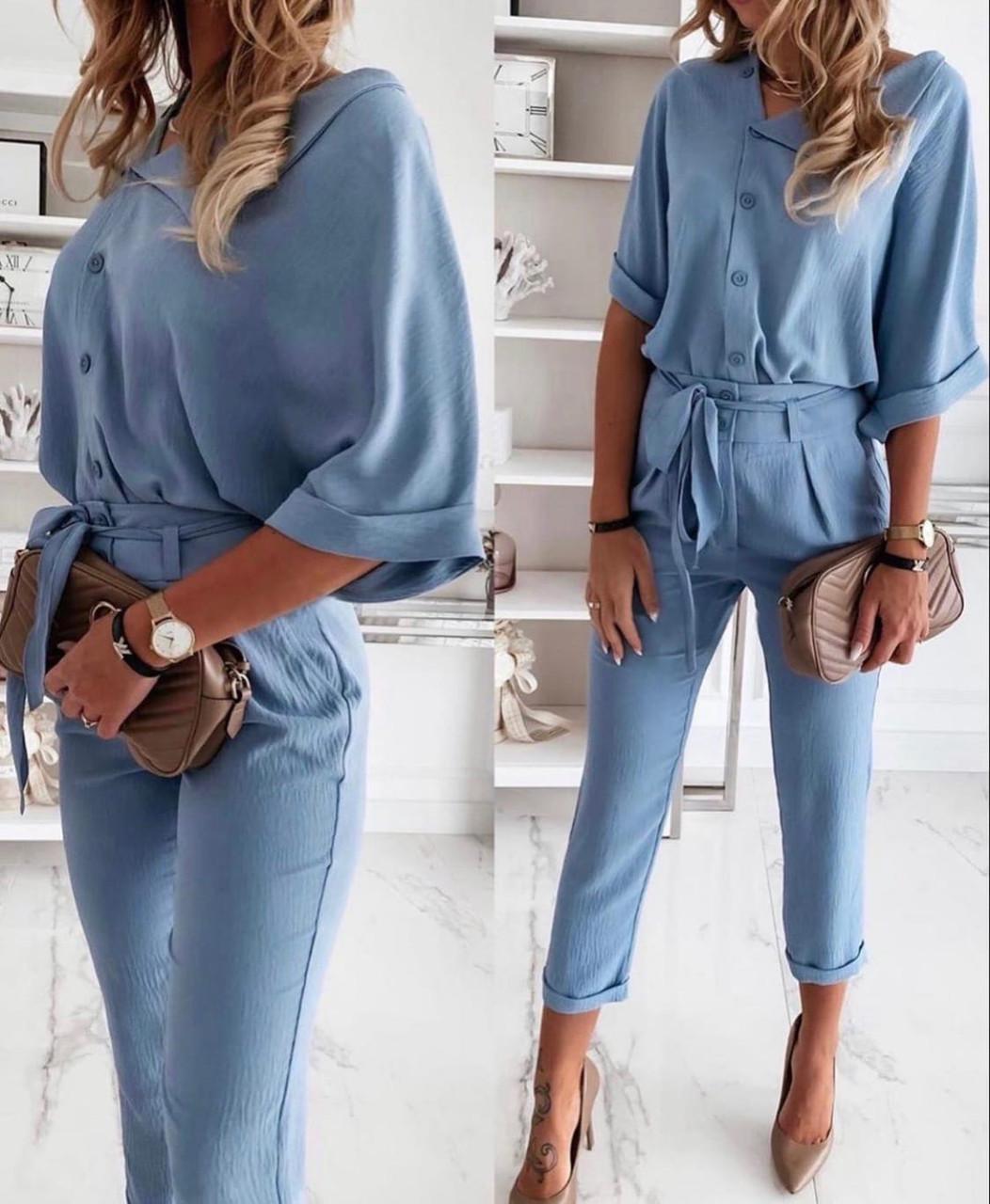 Женский брючный костюм лето, блуза с брюками, разные цвета,  р.s,m,l,xl Код 776Г