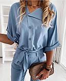 Женский брючный костюм лето, блуза с брюками, разные цвета,  р.s,m,l,xl Код 776Г, фото 3