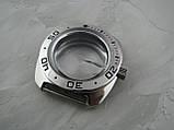 Корпус + головка +рант для годин Амфібія. Сталевий. Годинник Амфібія, фото 7