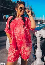 Костюм женский летний с шортами размеры: 50-60, фото 2