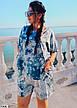Костюм женский летний с шортами размеры: 50-60, фото 4