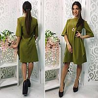 Женское платье А-образного кроя с разрезами по бокам, разные цвета, р.36(42),38(44) Код 729Ю